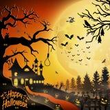 Halloween night background. Illustration of Halloween night background Stock Images