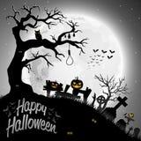 Halloween night background. Illustration of Halloween night background Stock Image