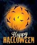Halloween night background illustration text Stock Photos