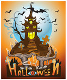 Halloween night background . royalty free illustration