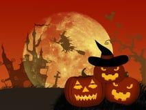 Halloween night background with pumpkin . Stock Image