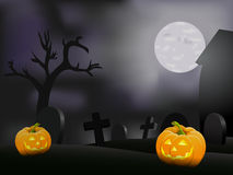 Halloween night background with pumpkin Royalty Free Stock Photo