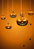 Halloween night background with pumpkin. Royalty Free Stock Photo