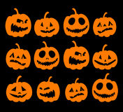 Halloween night background, pumpkins Royalty Free Stock Photo