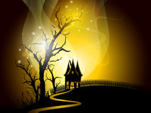 Halloween night background with scary pumpkin. Royalty Free Stock Photography
