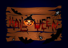 Halloween night background Stock Image