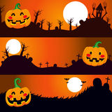 Halloween Night Banners Stock Photo