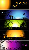 Halloween night banners Stock Image