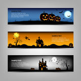 Halloween night banners template Stock Photo