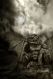 Halloween - Night Demon And Full Moon Stock Images