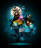 Halloween Night Event Flyer Party template with Space for text Stock Photography