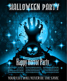 Halloween Night Event Flyer Party template with Space for text Royalty Free Stock Photo