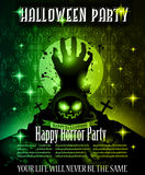 Halloween Night Event Flyer Party template Stock Photography
