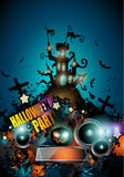 Halloween Night Event Flyer Party template Royalty Free Stock Photography