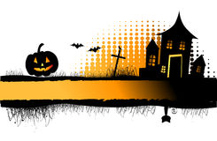Halloween night frame Royalty Free Stock Photo