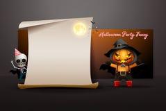 Halloween night full moon party fancy invitation card vector stock illustration
