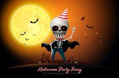 halloween night full moon party fancy vector royalty free illustration