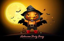 Halloween night full moon party fancy vector vector illustration