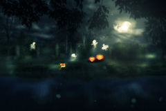 Halloween Night Gate Royalty Free Stock Images