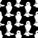 Halloween night ghosts seamless pattern Royalty Free Stock Photo