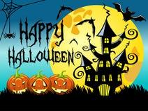 Halloween night horizontal background Stock Images