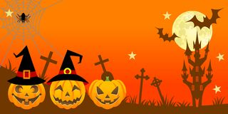 Halloween night,Horizontal Royalty Free Stock Photo