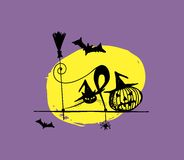 Halloween night illustration for your design Stock Photography