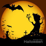Halloween at night on the moon Stock Photography