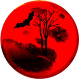 In Halloween night. The moon fully bloods of victims, abstract picture, for your background and design Stock Images