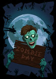 Halloween night moon zombi zombie evil spirits monster freak bea Stock Photos