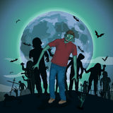 Halloween night moon zombi zombie evil spirits monster freak  Stock Image