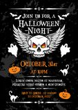 Halloween night party banner for october holiday Royalty Free Stock Photography