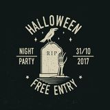 Halloween night party concept. Vector illustration. Royalty Free Stock Images
