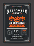 Halloween night party with scary pumpkins background for card poster flyer Stock Photo
