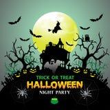 Halloween night party vector. Stock Photo
