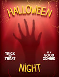 Halloween night poster Royalty Free Stock Photo