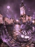 Halloween night in Prague Royalty Free Stock Photos