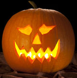 Halloween night pumpkin. Or 'Jack-O'-Lantern Royalty Free Stock Photo