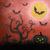 Halloween night recycled papercraft Stock Photography