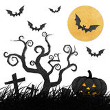 Halloween night recycled papercraft Royalty Free Stock Image