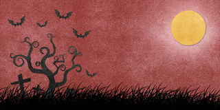Halloween night recycled papercraft Royalty Free Stock Photo