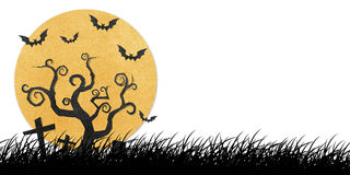 Halloween night recycled papercraft Stock Images