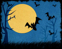 Halloween night recycled papercraft background Royalty Free Stock Images