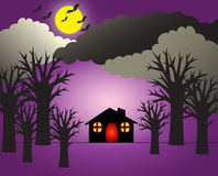 Halloween Night Scene Stock Image
