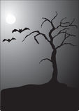 Halloween night scene stock illustration