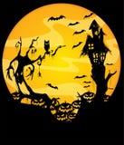 Halloween night scene Royalty Free Stock Images