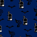 Halloween night seamless pattern background Royalty Free Stock Images