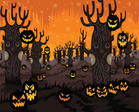 Halloween Night-Spooky Tree Royalty Free Stock Images