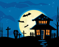 Halloween night theme. Great idea of Halloween night theme background for your website, powerpoint, leaflet etc Stock Photography
