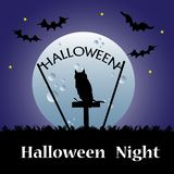 Halloween night theme Royalty Free Stock Images